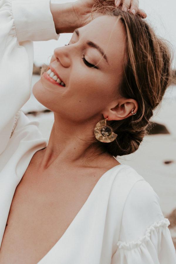 mariée femme boucle oreille bijoux bijouterie créateur lyon