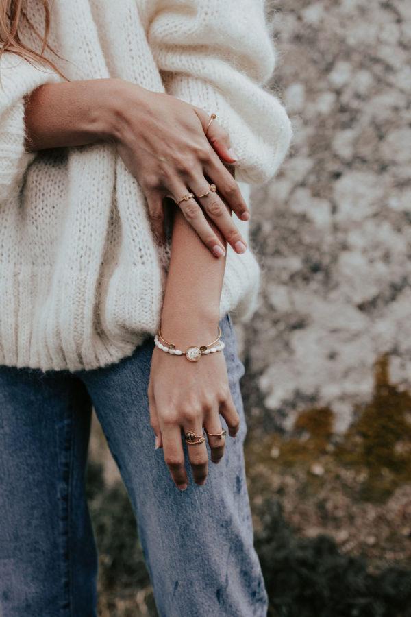 Bracelet perle nacre créateur bijoux bijouterie créateur femme