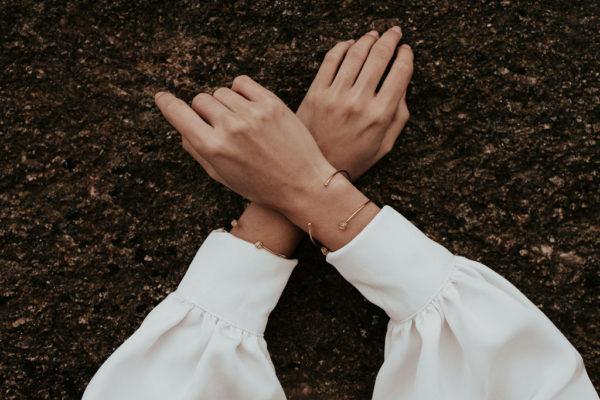Bracelet jonc mariée femme bijoux bijouterie créateur lyon