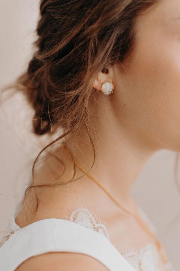 Bijouterie bijoux créateur lyon femme mariée boucle oreille