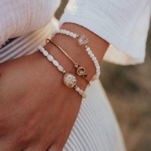 Bracelet femme maman perle nacre bijoux bijouterie créateur lyon