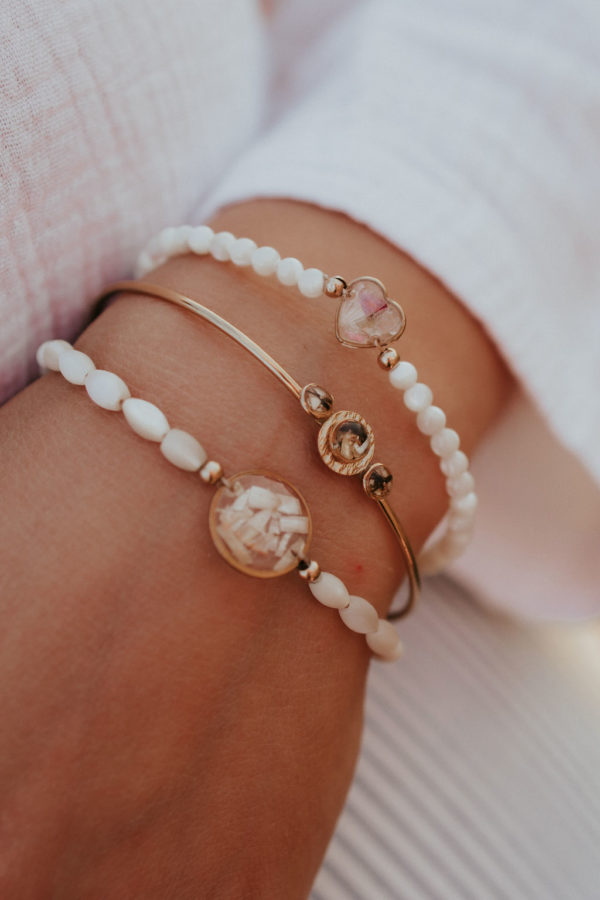 Bracelet perle nacre femme maman bijoux bijouterie lyon créateur