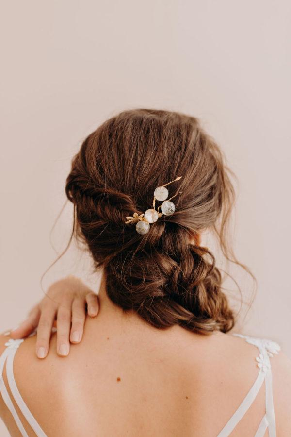 peigne mariage bijoux cheveux bijoux femme mariée bijouterie créateur lyon