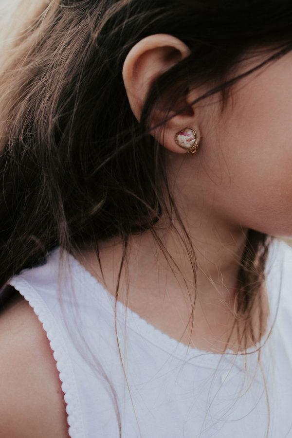 Boucle clip oreille bijoux fille bijouterie maman bijoux femme créateur lyon