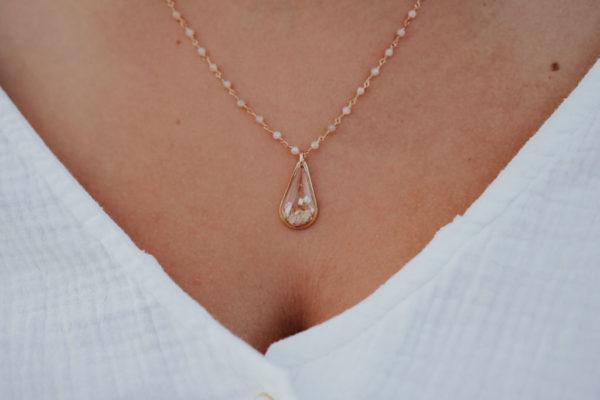 Collier cheveux personnalisé femme maman bijouterie bijoux créateur lyon